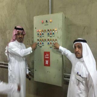ابو خشيم ومدير عام خدمات المياه في الباحة يُطلقان مياه سد #العقيق