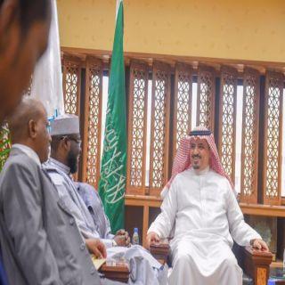 مدير #جامعة_القصيم يستقبل سفير تشاد بالمملكة