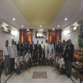 محافظ #الزلفي يستقبل رواد الحركة الكشفية المصرية