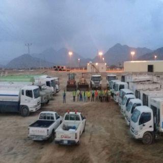 بلدية #بارق تستعد لموسم الامطار بثلاث فرق طوارئ و15 آلية ومعدة