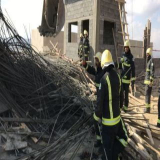 إصابة (6) عُمال في إنهيار سقف خرساني تحت الإنشاء بـ #الباحة