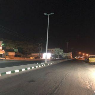 التيار الكهربائي يُعاود الأنقطاع عن أعمدة طريق ثلوث المنظر وبلدية #بارق ترد