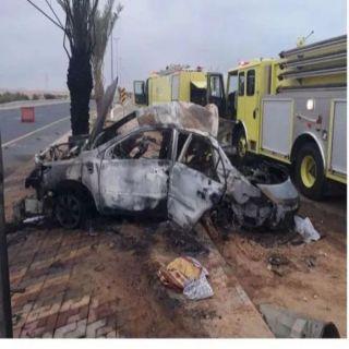 """هلال عسير اصابة وحالتين وفاة لشقيقتين في حادث """" الصوالحة"""