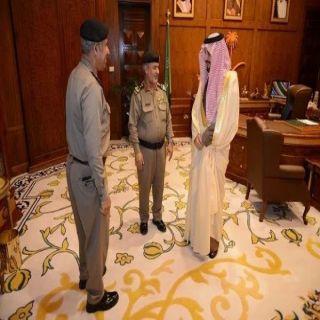 أمير عسير يودع العميد أبو ذيبه بعد تعيينه نائباً لمُدير شرطة نجران