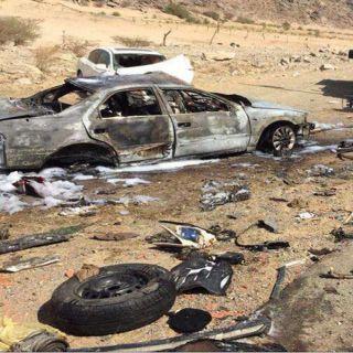 تفحم وإصابتين إحدها حروق من الدرجة الثانية وإخرى بسيطة بحادث في #الباحة
