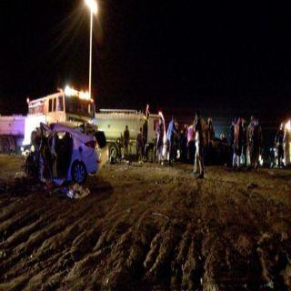حادث تصادم بطريق قياء جنوب الطائف  يُخلف تفحم شخصية ووفاة شخصين