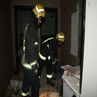 مدني #بريدة يُباشر إنفجار سخان دخل شقة سكنية بحي النهظة