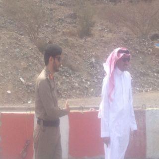 مدير عام النقل بعسير ومُدير مرور المنطقة يقفان على طريق #محايل شعار