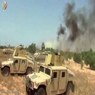القوات المسلحة المصريه تُعلن مقتل 4 تكفيريين والقبض على 12مطلوباً