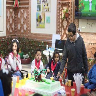 مركز جمعية الأطفال المعوقين في عسير يحتفل بأسبوع الشجرة