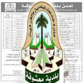 بلدية معشوقة في الباحة تطرح مشاريع بنيه تحتيه وفرص استثماريه