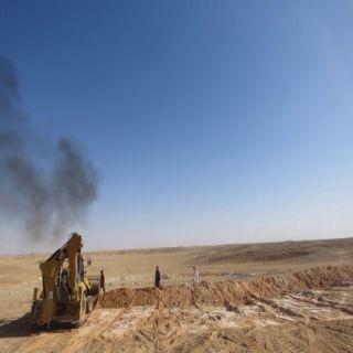 بالصور : بلدية #العويقيلة تنهي خطر خفس الحمراء جنوب المُحافظة