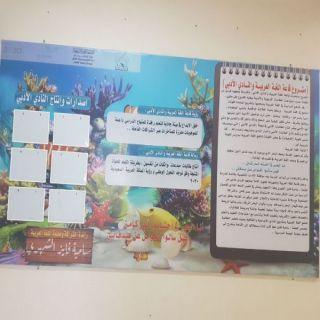 المساعدة بـ #تعليم_النماص تدشن قاعة اللغة العربية والنادي الأدبي بالظهارة