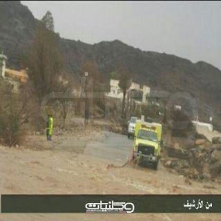 أمطار ثلوث المنظر تستنفر فرق الدفاع المدني