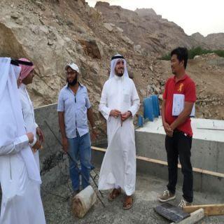 """""""البناوي"""" يقف على سير عمل سد وادي يبه غرب مُحافظة #بارق"""
