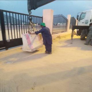سرقة كيابل تغلق حديقة ثلوث المنظر وبلدية #بارق تُبلغّ الشرطة