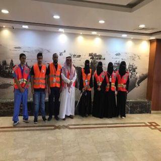 الفريق التطوعي بهلال الشمالية يزور مرضى مستشفى الامير عبدالعزيز بن مساعد