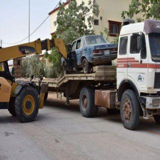 بلدية #طريف تُزيل 127 سيارة مهمله وهياكل متهالكه و  268 لوحه عشوئيه