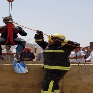 مدني #البرك ينتشل جثمان مواطن سقط في بئر مطوية بقرية العين