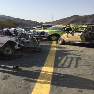 حادث تصادم بطريق البتيلة برجال المع يخلف ثلاث أصابات وثلاث وفيات