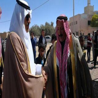 السفير السعودى لدى #الأردن يقدم واجب العزاء لقبيلة الحويطات بمعان.