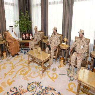 أمير عسير يستقبل قائد لواء الإمام محمد بن سعود الآلي بـ #الحرس_الوطني