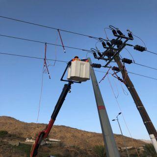 كهرباء تُهامة تًصلح عطل كهربائي في رجال المع والأهالي يُثمنون سرعة التجاوب