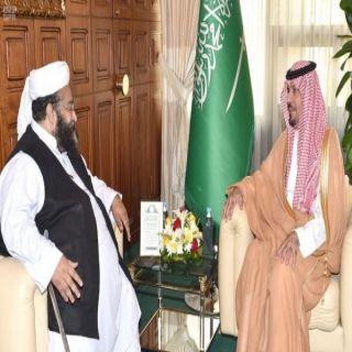 وزير #الحرس_الوطني يستقبل رئيس مجلس علماء باكستان