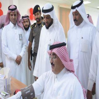 بحضور مدير القطاع الصحي محافظ #المجاردة يدشن حملة التبرع بالدم