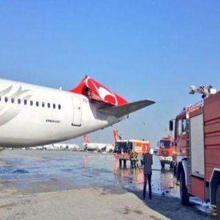 بالفيديو اصطدام طائرتين بمطار أتاتورك بإسطنبول