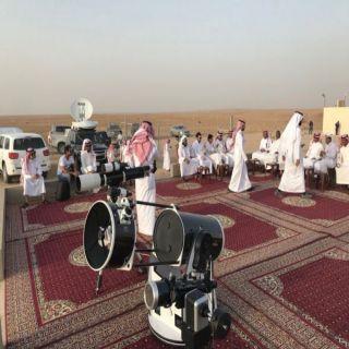 مرصد جامعة المجمعة الفلكي بحوطة سدير ينهي استعداداته في موقع الرصد الفلكي لتحري هلال رمضان