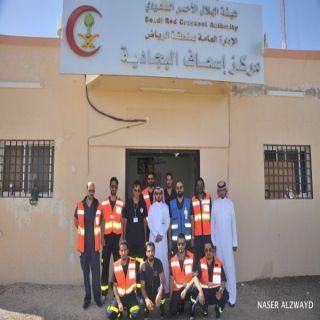 مدير فرع الهلال الأحمر بمنطقة الرياض يقوم بجولة ميدانية لأربع مراكز اسعافيه