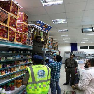 مدني تبوك الاسبوع الأول من رمضان شهد جولاته تفتيشية على عددا من المنشآت التجارية