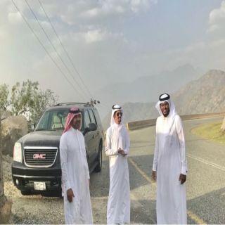 رئيس بلدي #بارق في زيارة لجبل أثرب