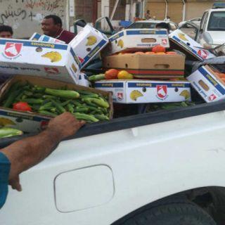 بلدية #صامطة تُصادر 218 كجم مواد غذائية فاسدة