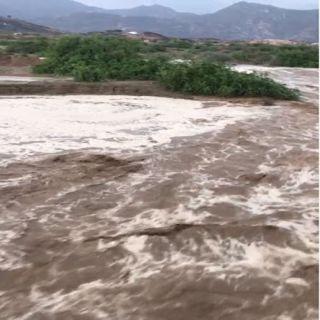 فيديو - الأمطار تُلطف اجواء #بارق والأهالي يستمتعون بالأجواء الجميلة