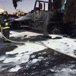 وفاة قائدمركبة اصطدم بشاحنة بطريق روضة الحسو في القصيم