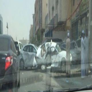 السيطرة على قائد شيول هشم عدد من المركبات بحي الكعكية في #مكة