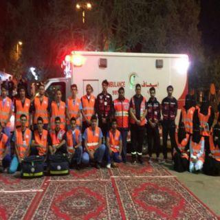 الهلال الأحمر السعودي بالباحة يشارك في إحتفالات العيد بمنتزه غابة رغدان