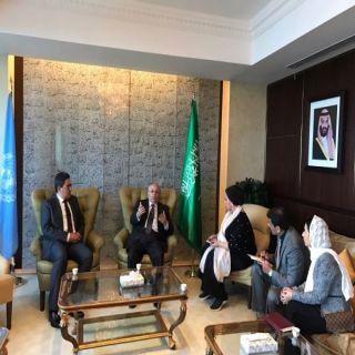 وفد من مركز اسناد يلتقي بمعالي مندوب المملكة العربية السعودية الدائم للأمم المتحدة