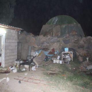 إستشهاد رجل أمن ثناء تبادل اطلاق نار في مداهمة وكر إثيوبيين بعسير