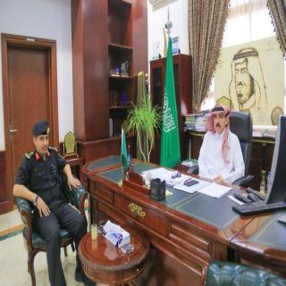 محافظ #البكيرية يستقبل العقيد (البدراني) عقب تكليفه مديراً للدوريات الأمنية