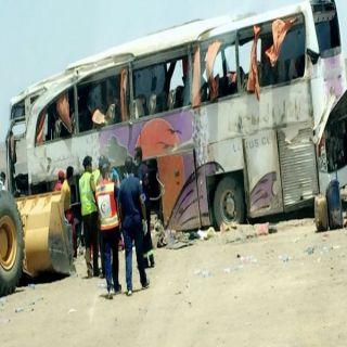 حادث حافلة بطرق #القصيم #المدينة يستنفر فرق الهلال الأحمر