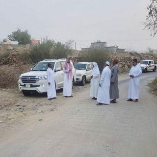 رئيس بلدي #بارق يرافقه عدد من الاعضاء يتفقدون بعض قرى ثلوث المنظر