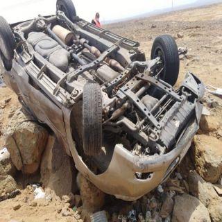 سبع إصابات منها اربع حالتهم خطيرة وثلاث وفيات بطريق #البرك