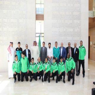 سفارة المملكة في الأردن تستقبل المنتخب السعودي للكاراتيه بعد تحقيق الميدالية الفضية في منافسات القتال الجماعي