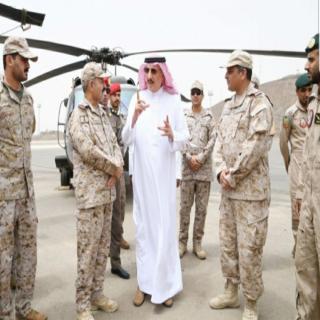 الأمير محمد بن ناصر يتفقد قوة جازان ويزور مستشفى القوات المسلحة