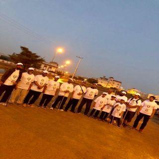 بالصور : انطلاق فريق مشاة #تنومة بالشراكة  مع  لجنة التنمية الاجتماعية