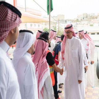 معالي رئيس هيئة الهلال الاحمر السعودي يزور #الباحة