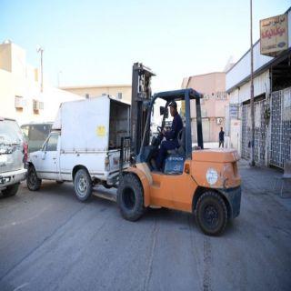بلدية #عنيزة تبدأ حملة لإزالة المركبات المتوقفة والمتعطلة